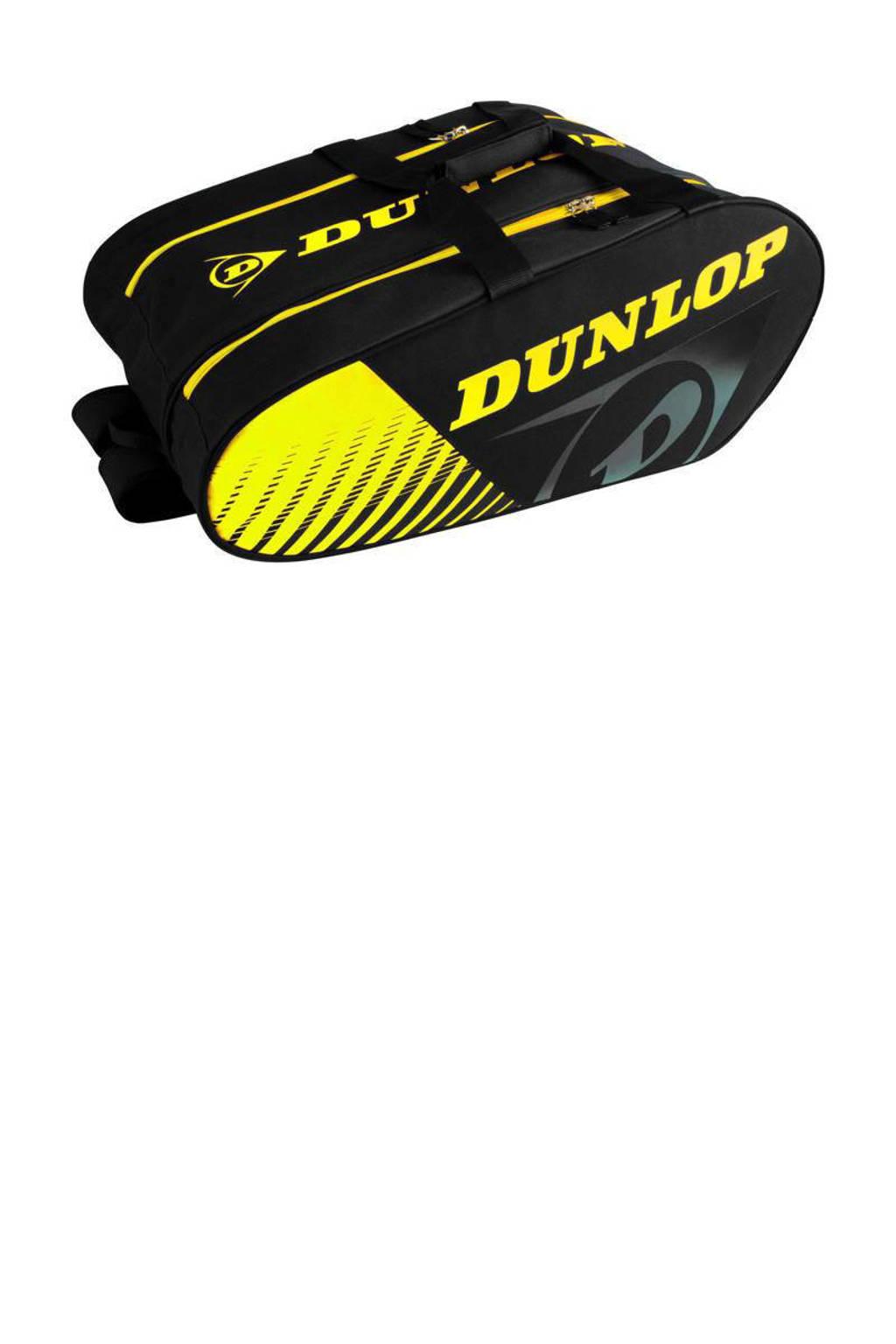 Dunlop   padelrugtas zwart/geel, Geel/zwart