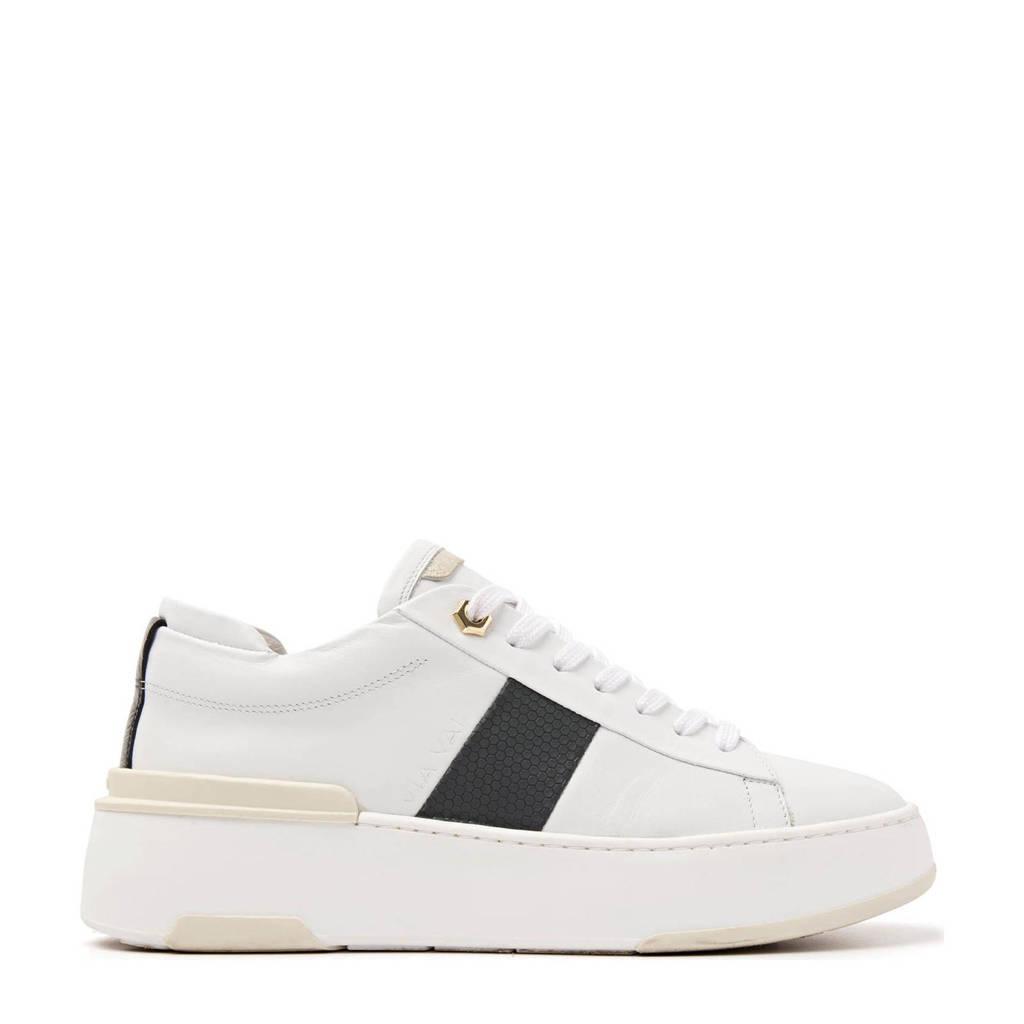 Via Vai 5609032  leren sneakers wit/zwart, Wit/zwart
