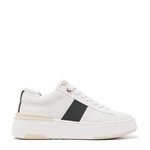 5609032  leren sneakers wit/zwart