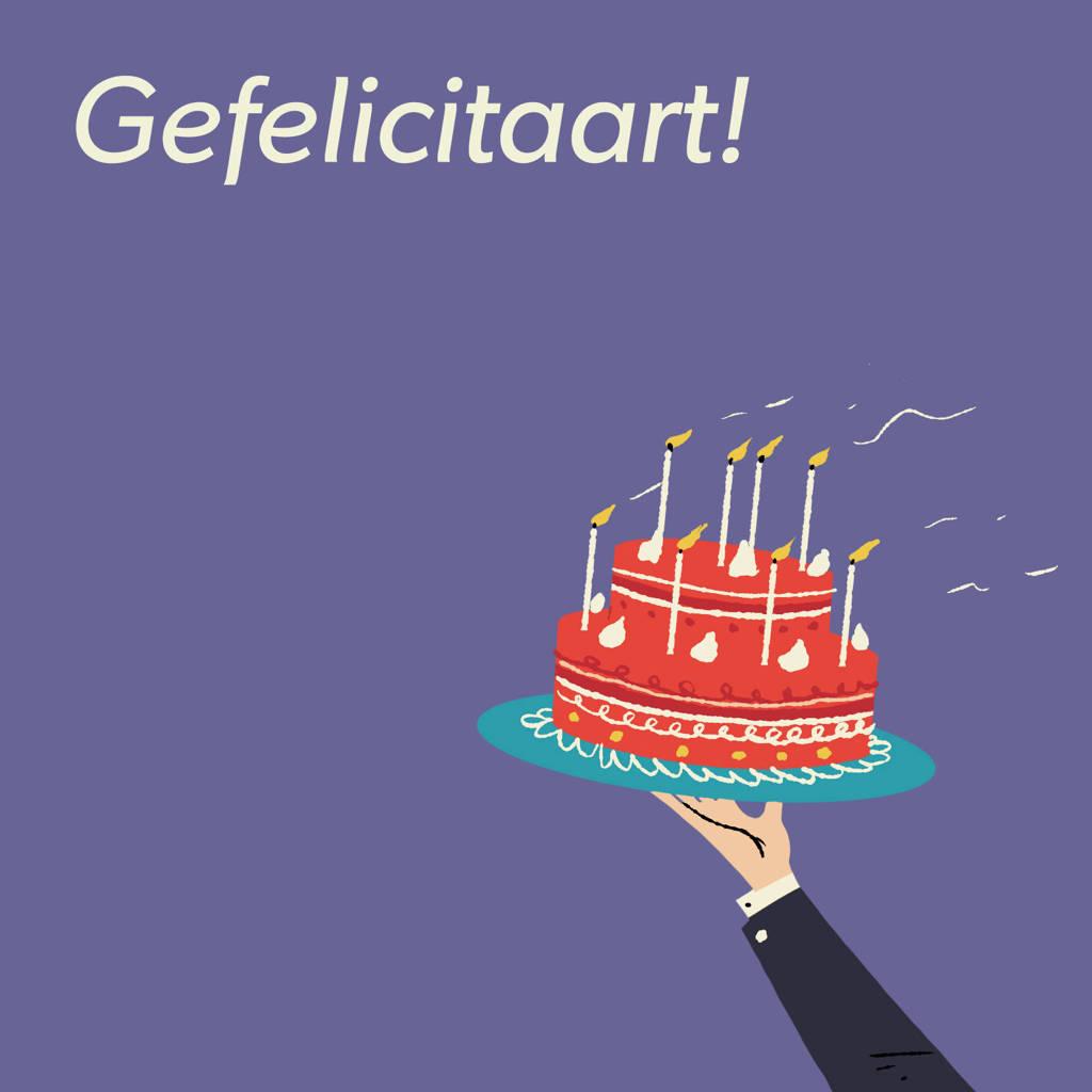 wehkamp Digitale Cadeaukaart Gefeliciteerd Taart 50 euro