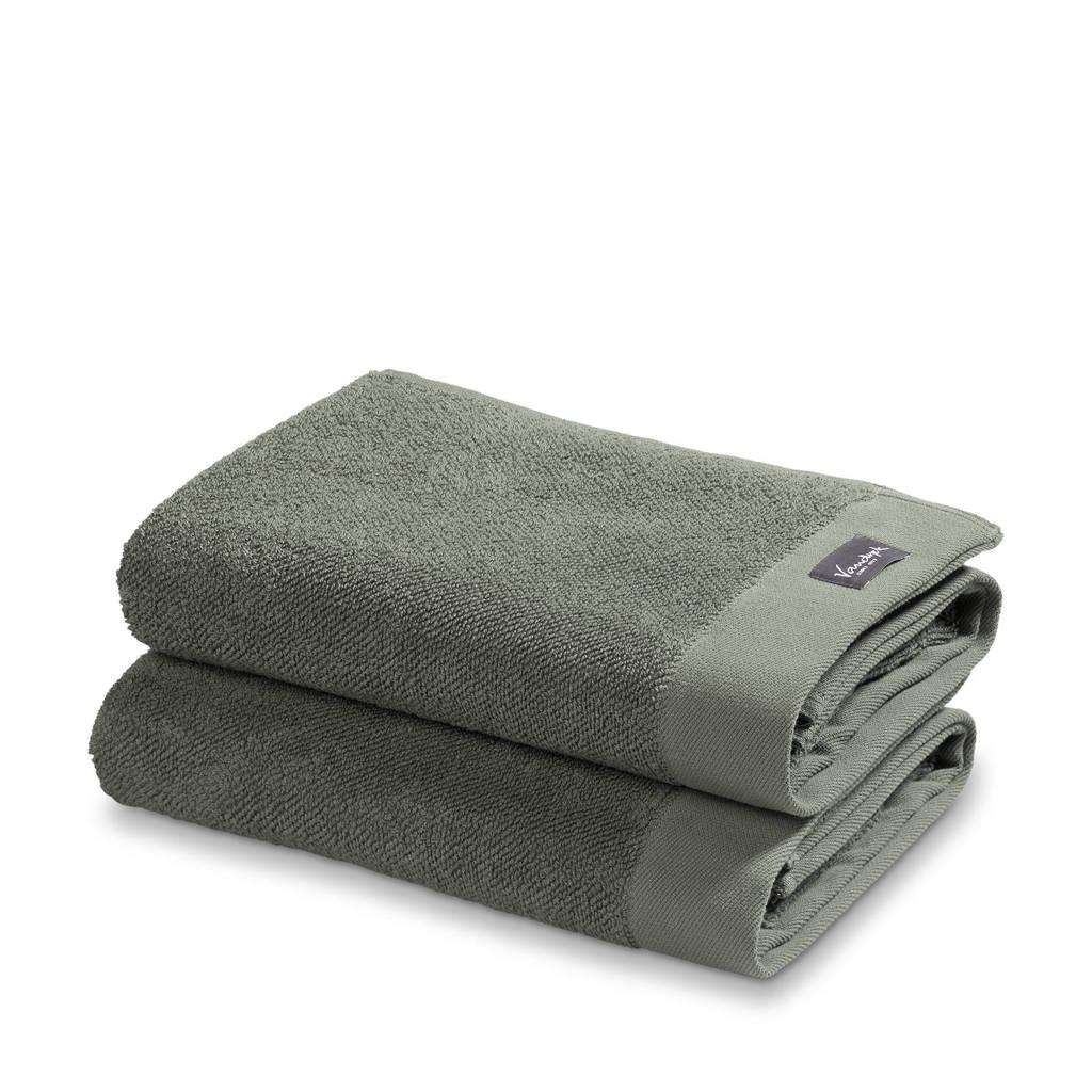 Vandyck badhanddoek (set van 2) (110x60 cm), Groen