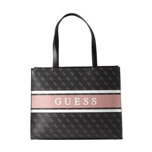shopper Monique zwart/lichtroze