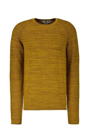 fijngebreide trui golden yellow