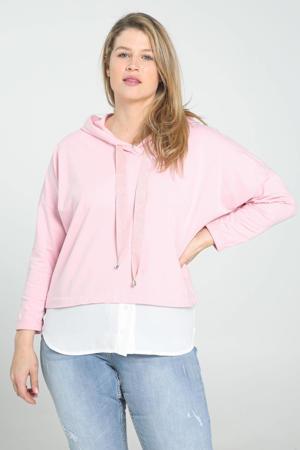 hoodie roze/wit