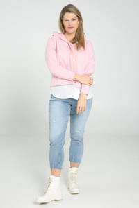 Paprika hoodie roze/wit, Roze/wit