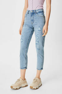 C&A Clockhouse high waist mom jeans light denim, Light denim