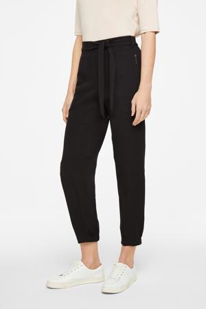 cropped slim fit broek zwart