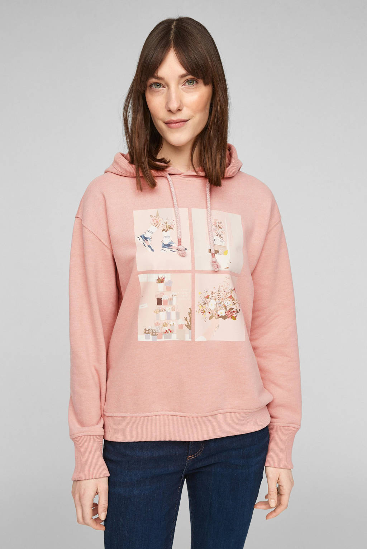 s.Oliver hoodie met printopdruk roze, Roze