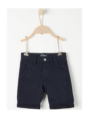 slim fit short donkerblauw