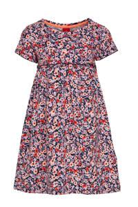 s.Oliver gebloemde jurk roze/blauw, Roze/blauw