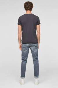 Q/S designed by slim fit T-shirt zwart, Zwart