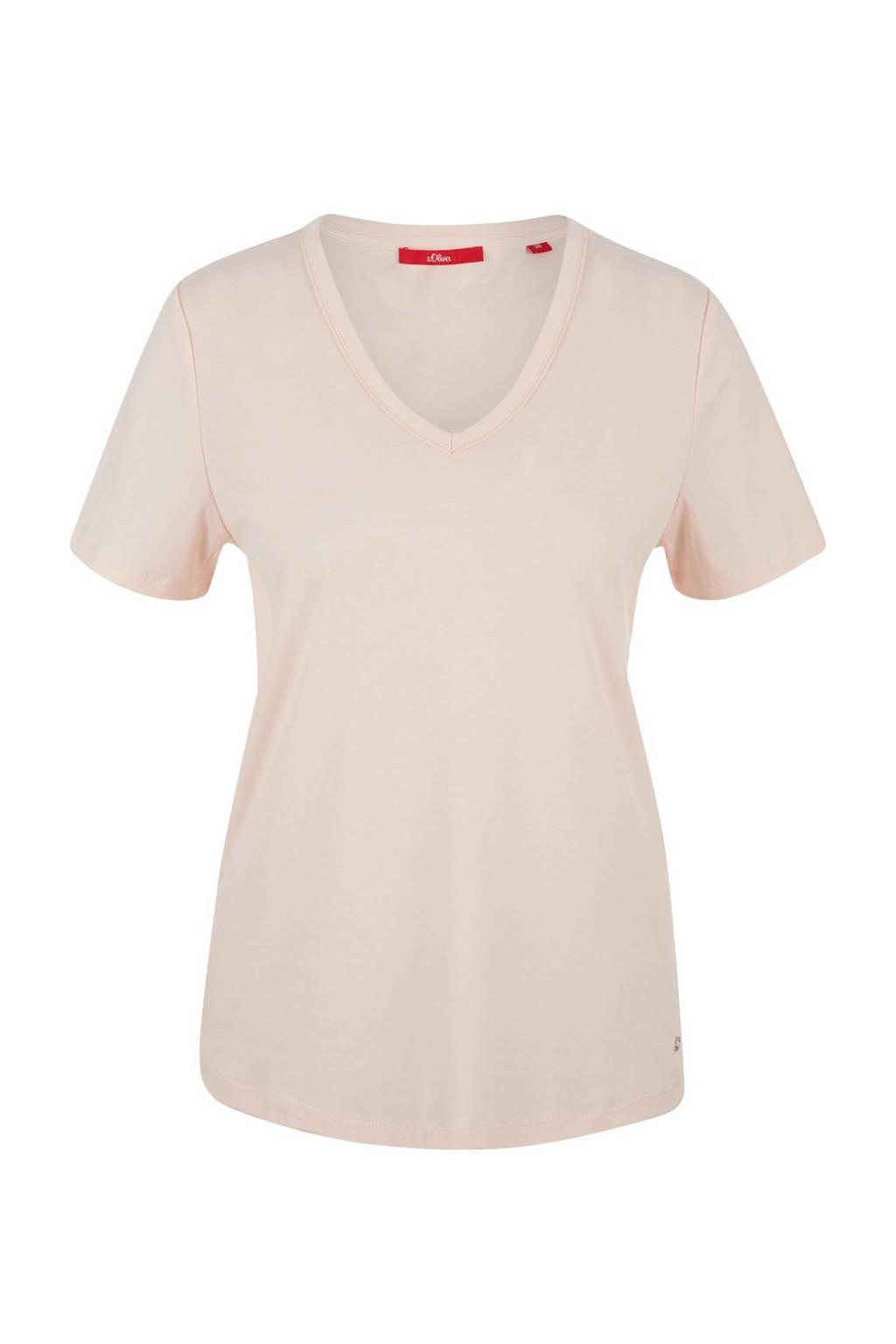 s.Oliver T-shirt lichtroze, Lichtroze