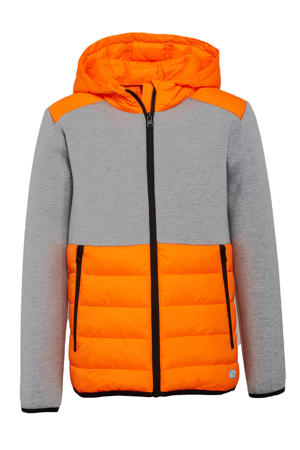 tussenjas oranje/grijs