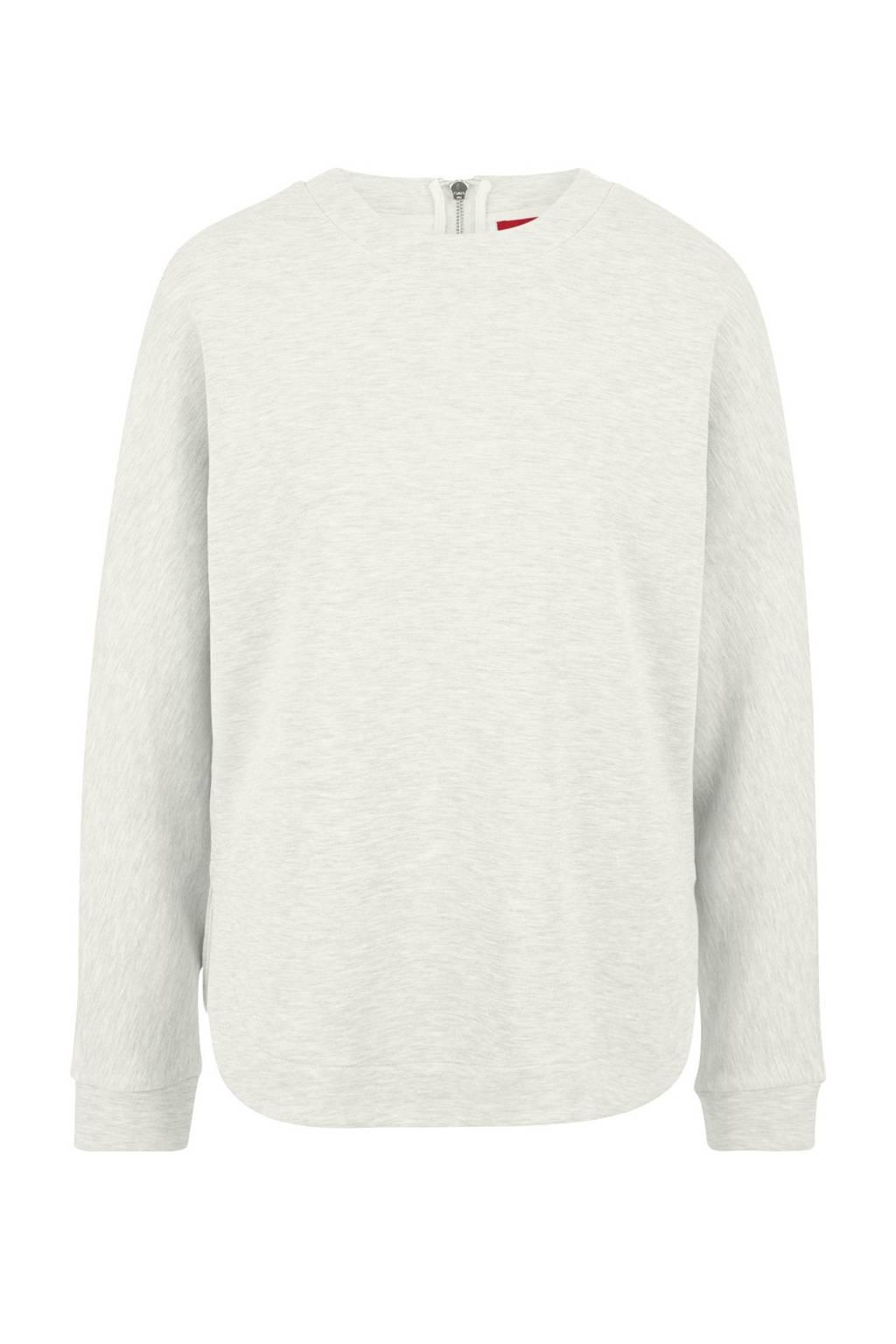 s.Oliver gebreide sweater met textuur ecru, Ecru