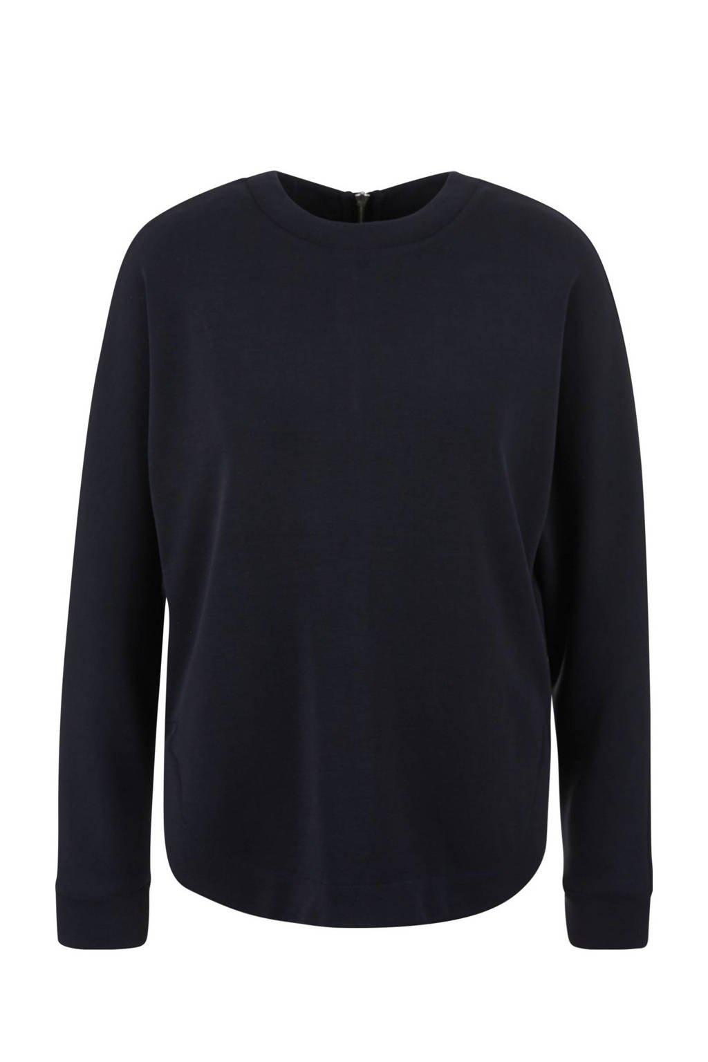 s.Oliver gebreide sweater met textuur marine, Marine