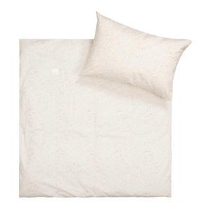 ledikant dekbedovertrek + sloop Moonsand 100x135 cm oat