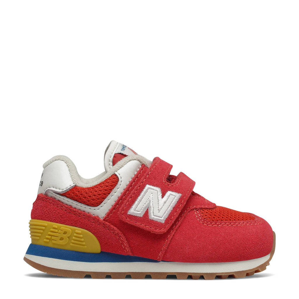New Balance 574  sneakers rood/lichtgrijs, Rood/lichgrijs