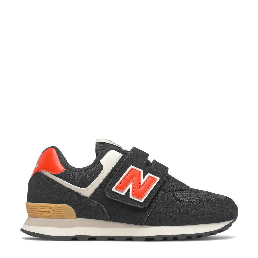New Balance 574  sneakers zwart/rood, Zwart/rood