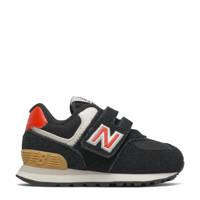 New Balance 574  574 sneakers zwart/rood, Zwart/rood