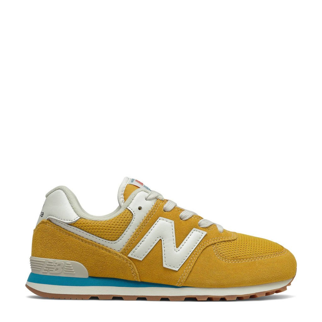 New Balance 574  sneakers geel/wit, Geel/wit