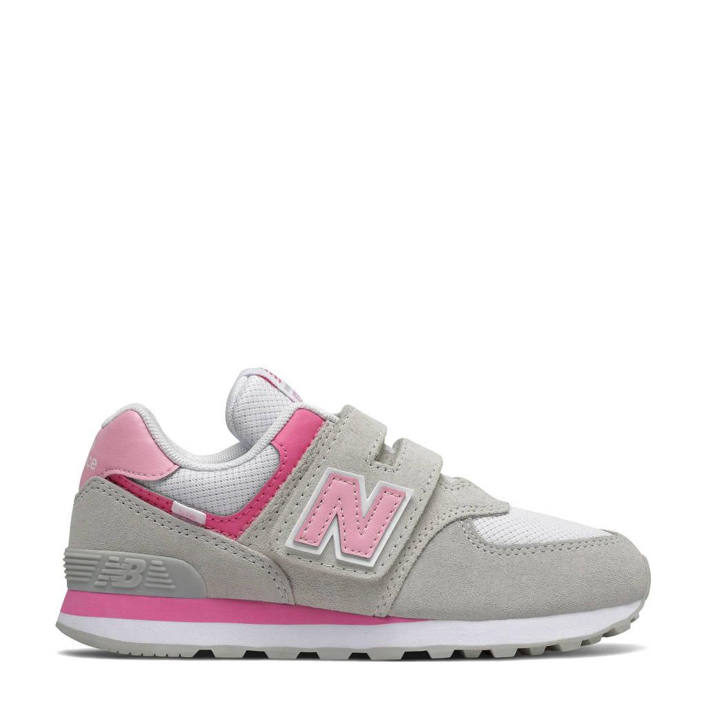 New Balance 574  sneakers lichtgrijs/roze, Lichtgrijs/roze