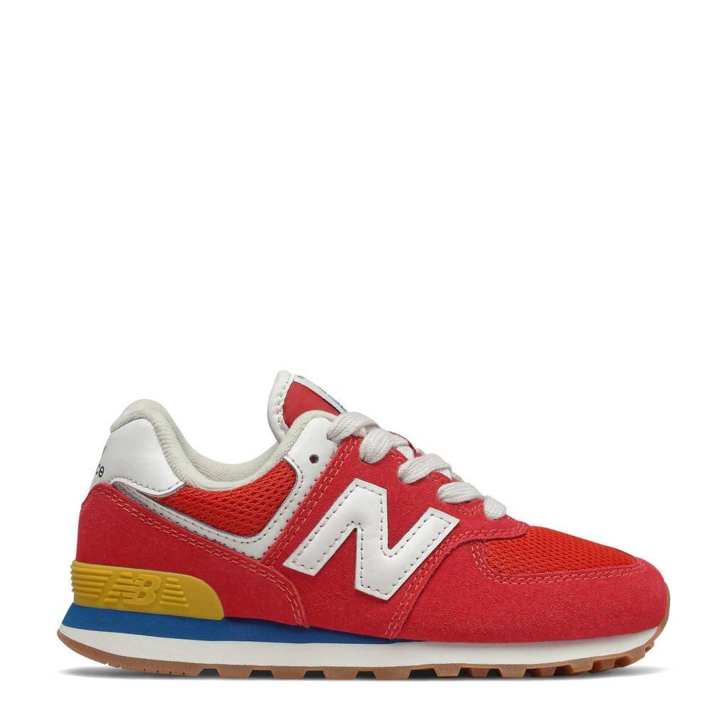 New Balance 574  sneakers rood/lichtgrijs, Rood/lichtgijs