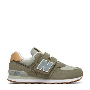574  sneakers kaki/lichtgroen