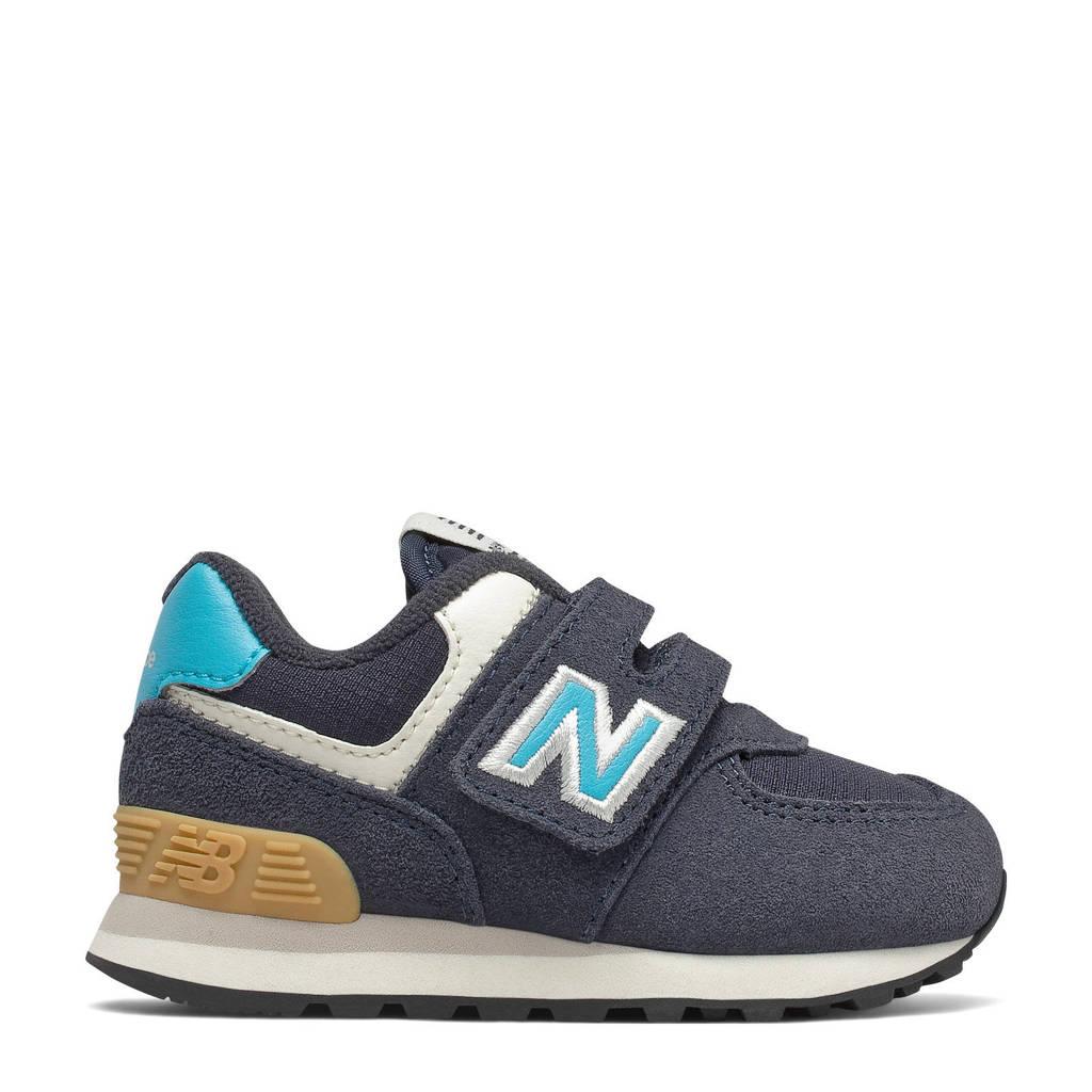 New Balance 574  sneakers donkerblauw, Donkerblauw/lichtblauw