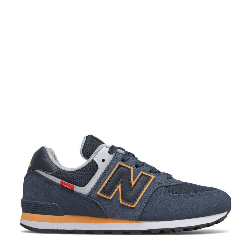 New Balance 574  sneakers donkerblauw/oranje, Donkerblauw/oranje