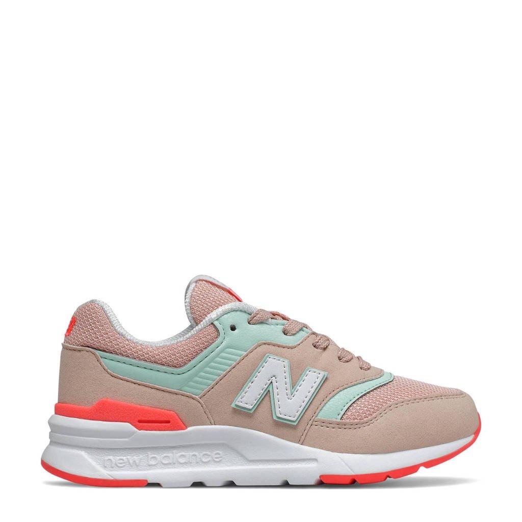 New Balance 997  sneakers lichtroze/mintgroen/oranje