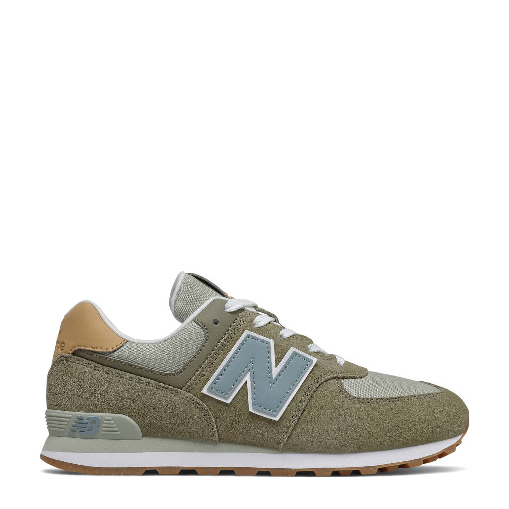 New Balance 574  sneakers groen/blauw/bruin, Groen/blauw/bruin
