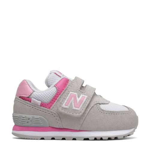 New Balance 574 sneakers grijs/roze