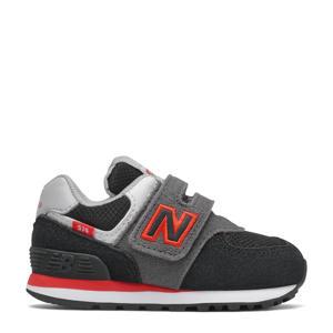 sneaker zwart/grijs/rood
