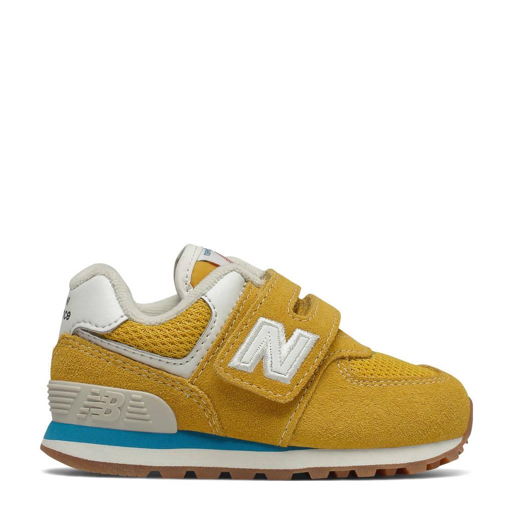 New Balance 574  sneaker geel/wit, Geel/wit