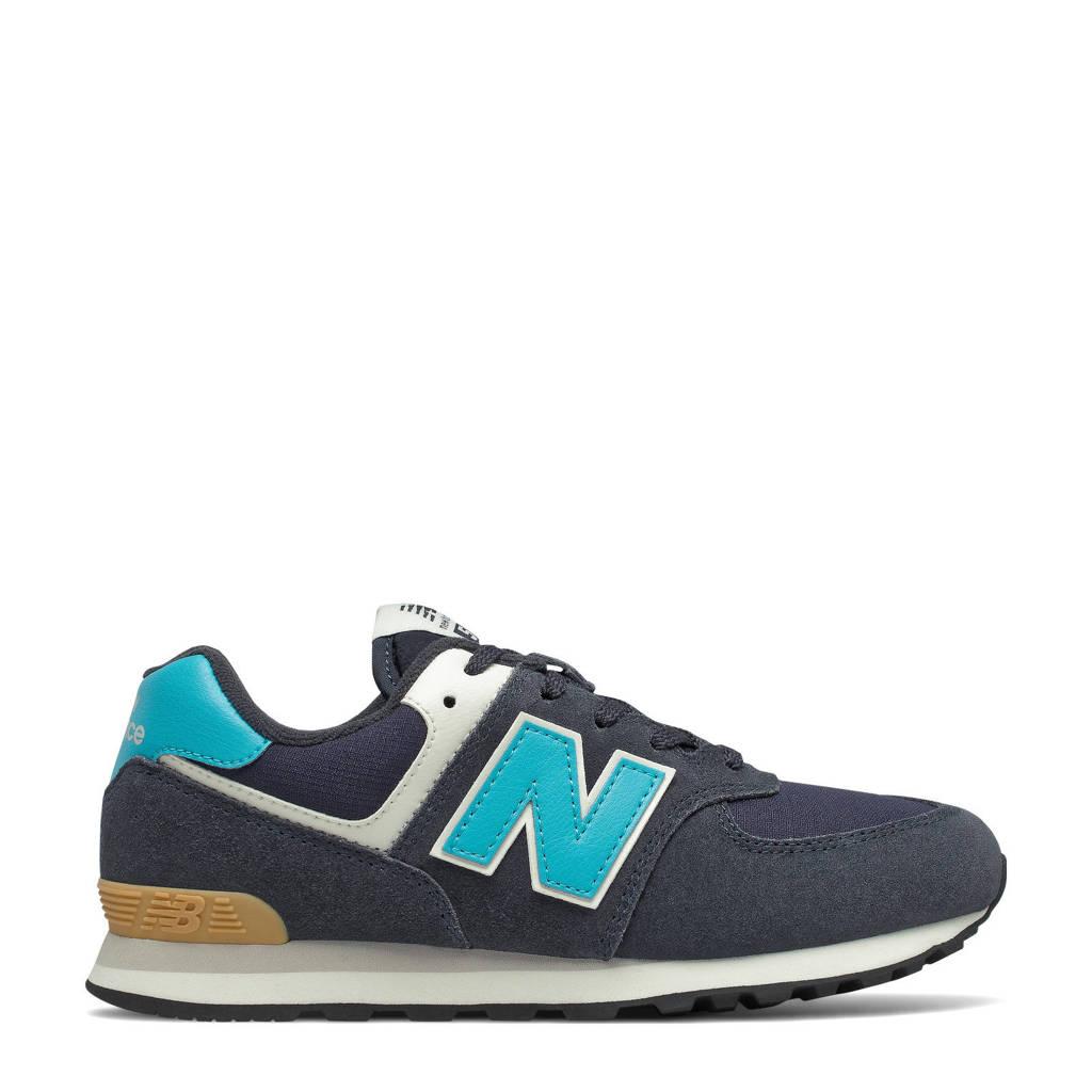 New Balance 574  sneakers donkerblauw/aquablauw, Donkerblauw/aquablauw