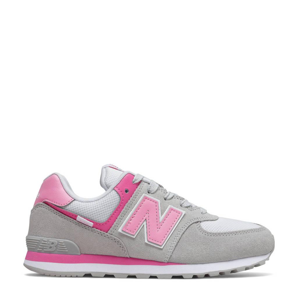 New Balance 574  sneakers grijs/roze, Grijs/roze