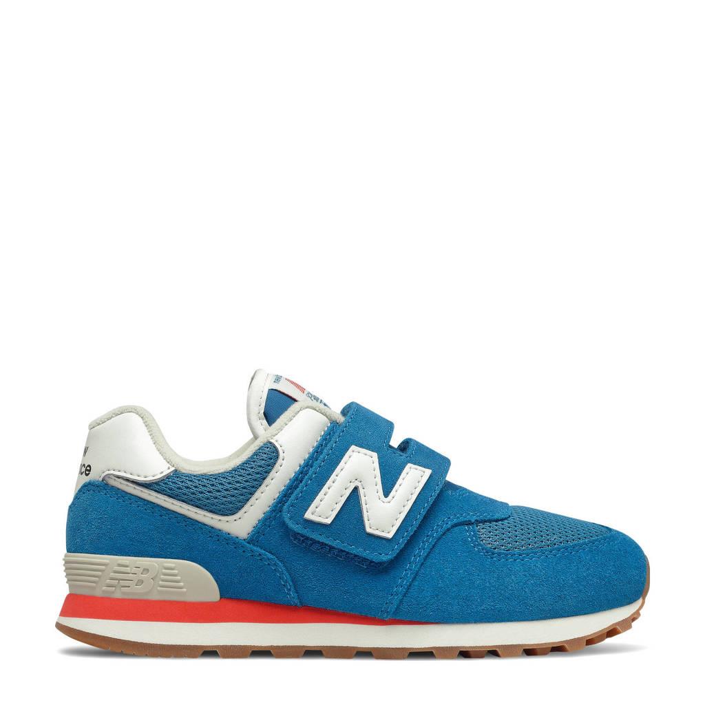 New Balance 574  sneakers blauw/wit, Blauw/wit