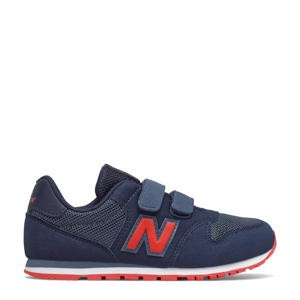 500  sneakers donkerblauw/rood