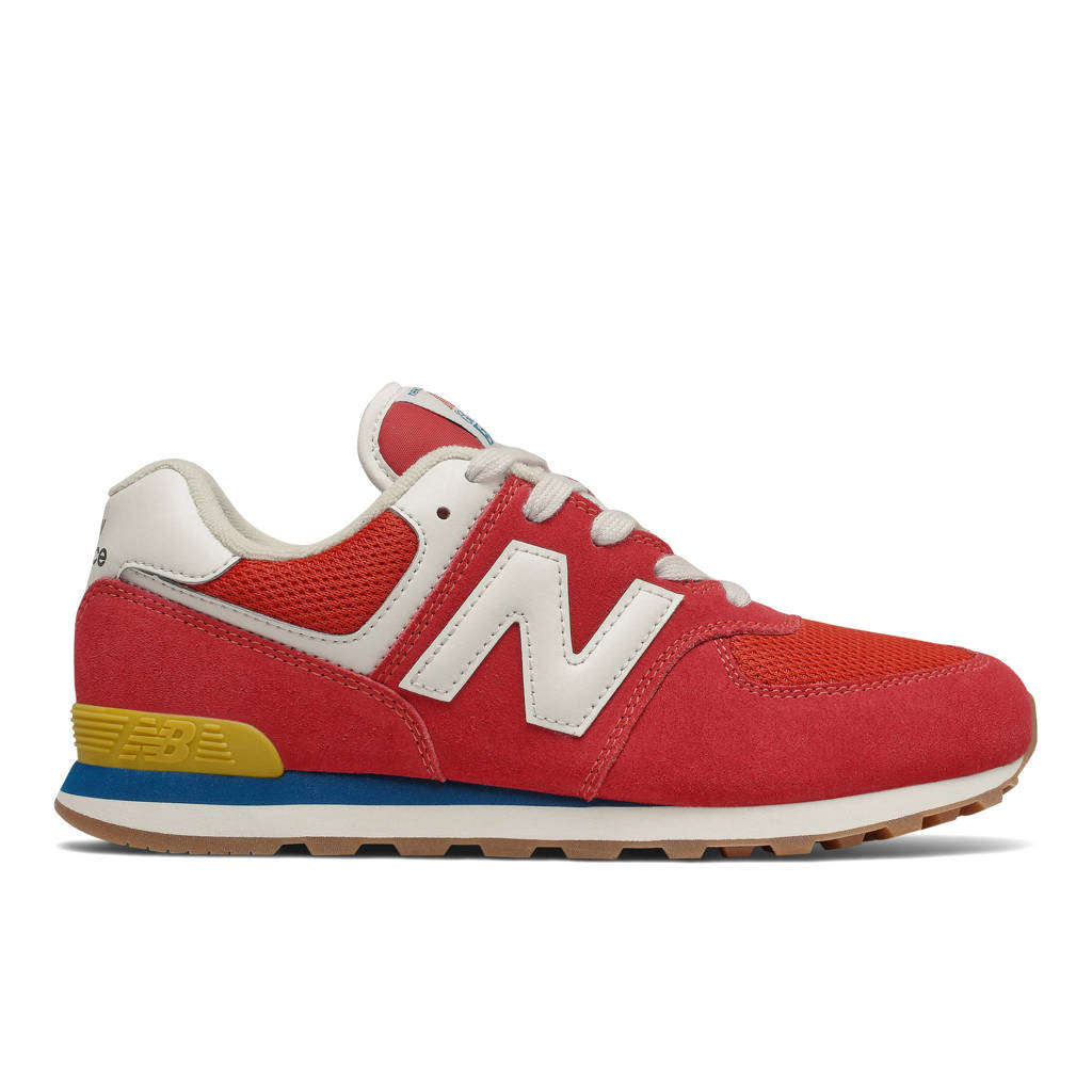 New Balance 574  sneakers rood/wit, Rood/wit