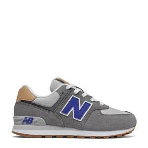 574  sneakers grijs/kobaltblauw