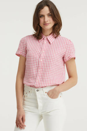 geruite blouse rood/wit