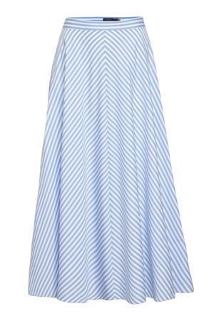 gestreepte rok lichtblauw