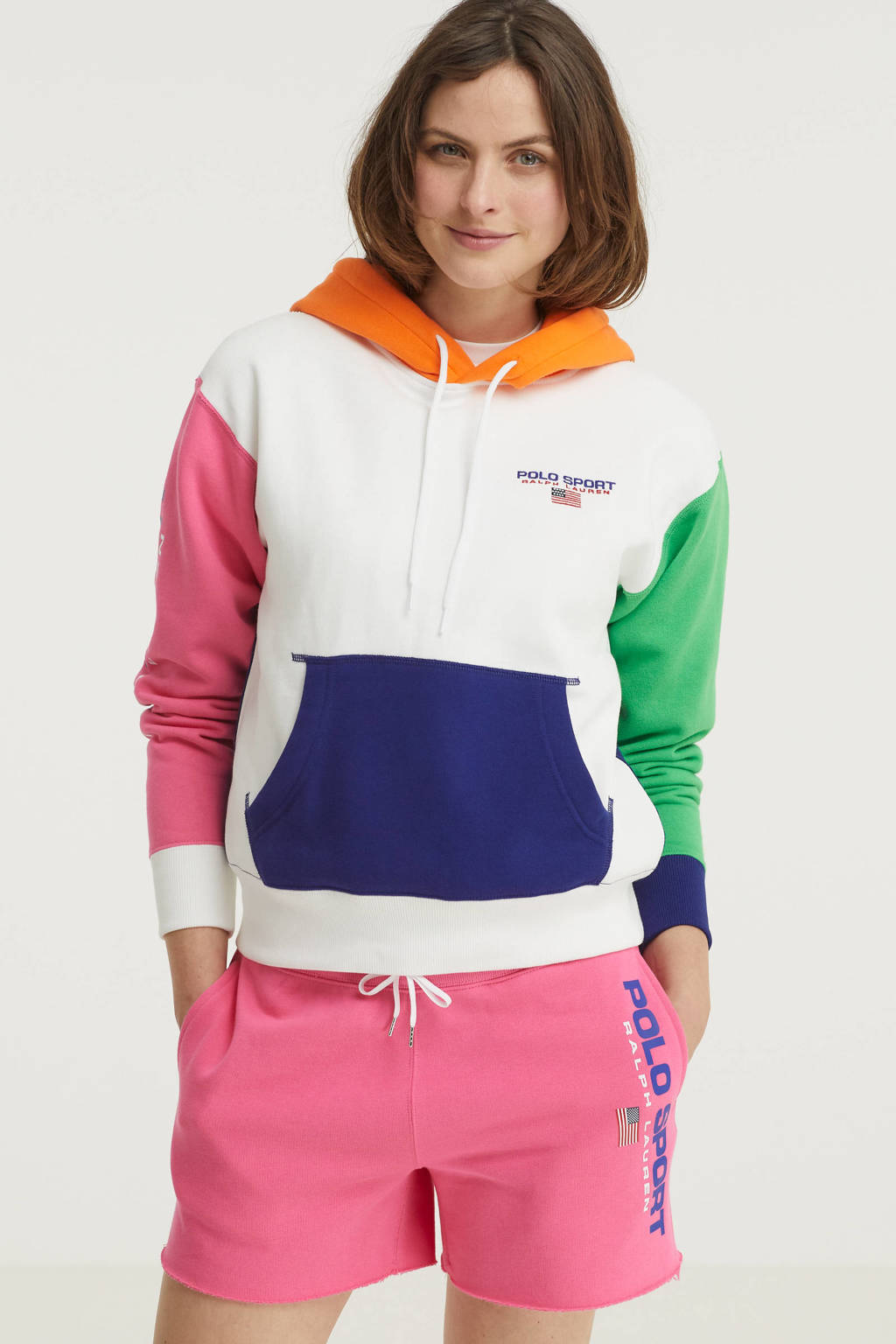 POLO Ralph Lauren trui donkerblauw/roze/groen/oranje, Donkerblauw/roze/groen/oranje