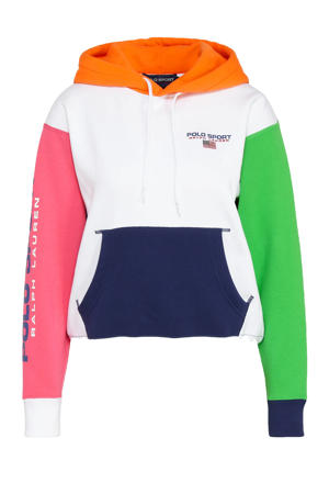 trui donkerblauw/roze/groen/oranje