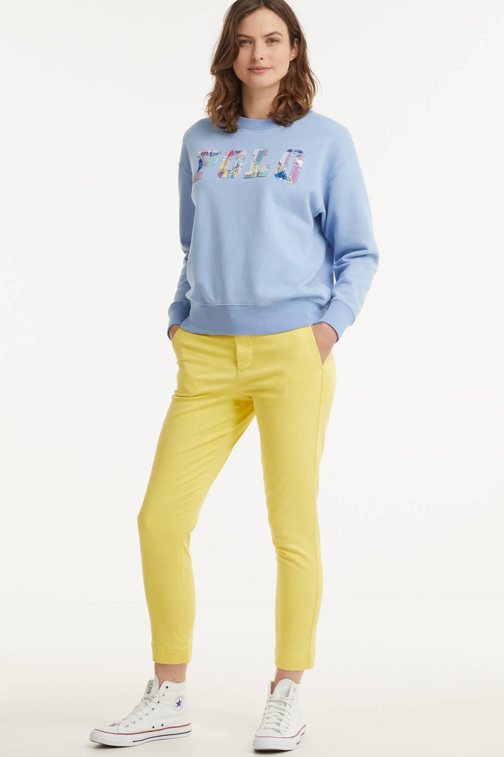 POLO Ralph Lauren cropped tapered fit broek GABBY geel, Geel