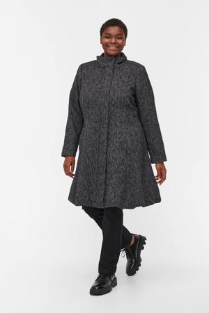 coat MHEATHROW zwart/wit