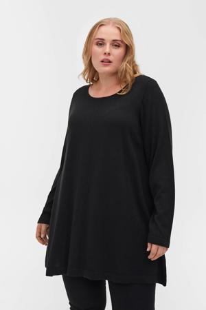fijngebreide trui MSHAPE zwart