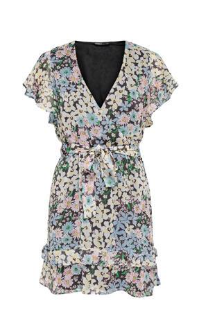 jurk ONLPINE met all over print blauw