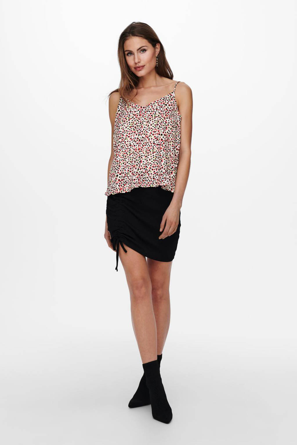 ONLY top ONLDIA met all over print rood, Rood