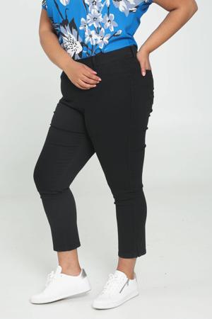 cropped slim fit chino zwart